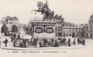 Place De l'Hotel-de-Ville, Statue De Napoleon 1er, ROUEN (Seine Maritime), Fr...