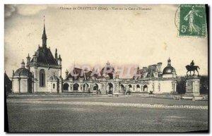 Old Postcard Chateau de Chantilly View the Court & # 39Honneur