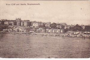 West Cliff &b Sands , BOURNEMOUTH , England , PU-1908