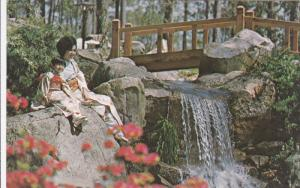 Japanese Gardens, Asian Woman & Girl, BIRMINGHAM, Alabama, 1940-1960s