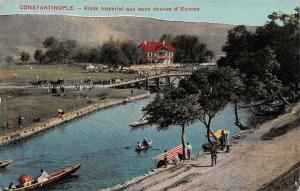 Turkey Istanbul Constantinople, Kiosk Imperial eaux d'Europe, boats gondolas