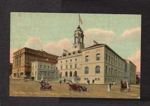ME City Hall Masonic Temple Freemasons Masons PORTLAND MAINE Postcard 1912