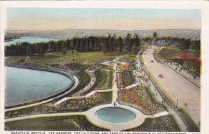 SEATTLE, Washington, PU-1928; The Gardens, Lily Pond, Reservoir Volunteer Park