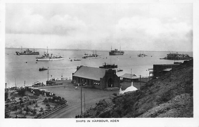 Yemen Aden, Ships in Harbour, Port, real photo