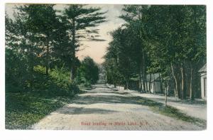 North White Lake to Liberty, New York 1908 Postcard, Road to Lake