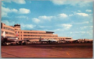 Vintage PITTSBURGH PA Postcard Greater Pittsburgh Airport Chrome 1960 Cancel