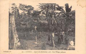 Congo Aspect des plantations pres d'un Village pahouin
