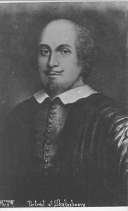 Famous Historical Personality: Portrait of William Shakespeare, Poet