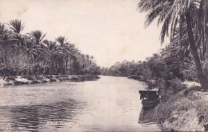 Kora Creek Basra Iraq Boat  Antique Postcard