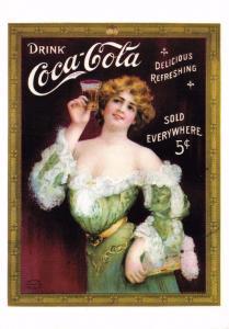 Postcard Drink Coca-Cola 1907 Advert Reproduction Card No.2400
