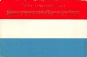 Netherlands National Anthem Wien Neerlandsch Bloed Antique Postcard J75029