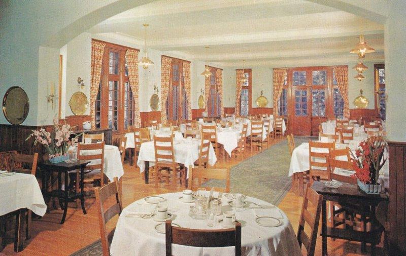 LAKE LOUISE, Alberta, Canada, 1940-1960s; Emerald Lake Chalet, Dining Room