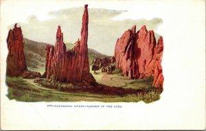 LOT OF 2 - VINTAGE Postcard - Garden of the Gods - CHIPETA FALLS