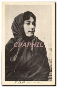 Old Postcard Corsica Type Female Folklore
