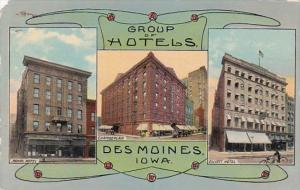 Iowa Des Moines Royal Hotel Chamberlain and Elliott Hotel Curteich
