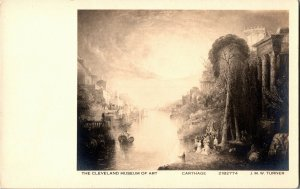 RPPC Cleveland Museum of Art Carthage J.M.W. Turner Vintage Postcard R20