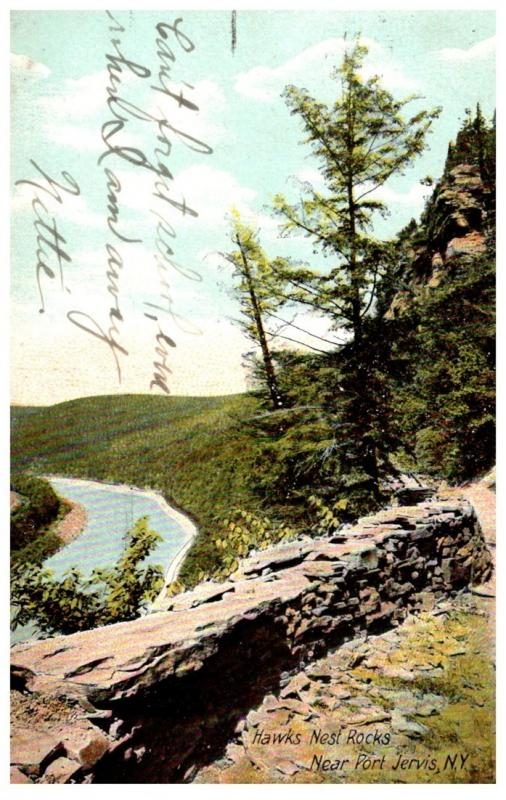 New York  Port Jervis , Hawk's Nest Rocks