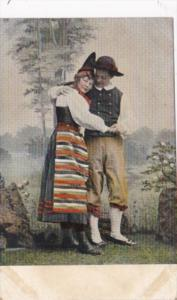 Norway Young Couple In Traditional Costume