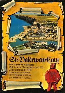 France St Valery en Caux Vue Generale Aerienne Panorama Postcard
