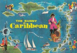 Caribbean , 1950-70s ; Map