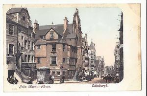 UK Scotland Edinburgh John Knox's House Vintage ca 1905 Postcard