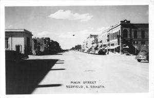 Redfield South Dakota~Downtown Main Street~Jewelry~Hardware~1950s RPPC