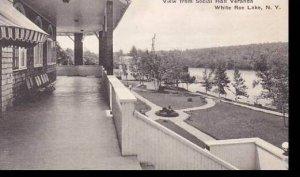 New York  White Roe Lake  View from Social Hall Veranda   Albertype