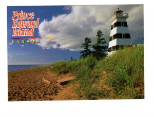 West Point Lighthouse, West Prince, Prince Edward Island, Large 5 X 7 Postcard