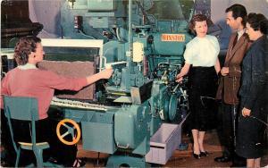 Vintage Postcard; Girl at Cigarette Making Machine, Winston Salem, RJ Reynolds