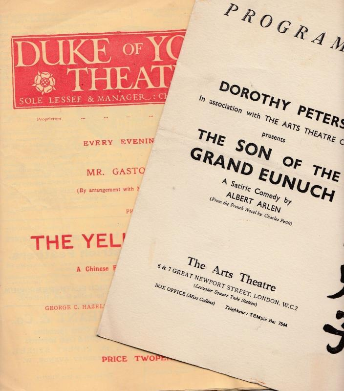 The Son Of The Grand Eunuch Yellow Jacket Old China Tea Theatre Programme Set