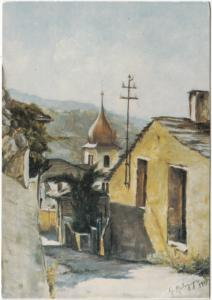 MALAGUGINI GIUSEPPE, Lavis, Il Bristol, olio, used Postcard