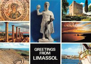 Cyprus Greetings from Limassol industrial town port export Wines