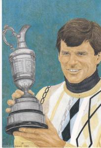 golfer  Nick Faldo winner 116th Open Championship  with statistics