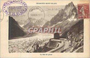 Old Postcard Chamonix Mount White sea ice