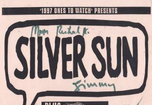 Silversun Dust Junkys Pop Sheffield University 1997 Hand Signed Concert Poster