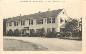 Camp Hill Pennsylvania~Georgian Hall Guest House~Old Fella Lawn Chair~1940 B&W