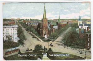 Thomas Circle Washington DC 1910c postcard