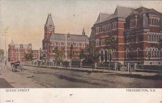 Canada New Brunswick Fredericton Queen Street 1906
