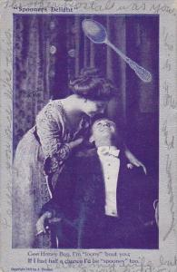 Romantic Couple Spooners Delight Man Talking To Woman 1909