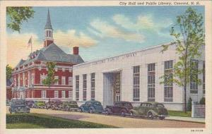 New Hampshire Concord City Hall And Public Library 1930