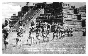 Mexico Dioses-Sacerdotes Y Guerreros Real Photo Postcard