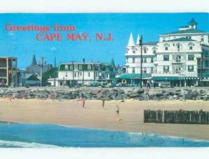 Pre-1980 VICTORIAN ARCHITECTURE BY BEACH Cape May New Jersey NJ d7781
