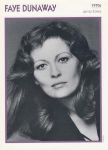 Faye Dunaway Astrology American Actor Rare Italian 8 x 5 Film Photo Card