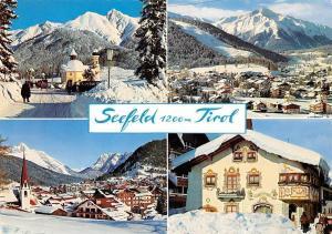 Seefeld Tirol, Seekirch mit Reitherspitze mit Hocheder Schmuckkastl Winter