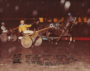 FRASER DOWNS RACETRACK, Harness Horse Race, BEAVERLY CORKY wins, 1983