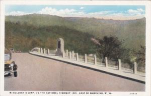East of WHEELING, West Virginia; McColloch's Leap on the National Highway (40...