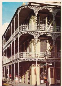 Louisiana New Orleans Lace Balconies At Royal And Saint Peters Streets