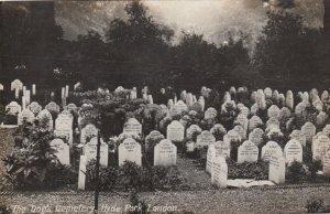 LONDON , England , 1908 ; HYDE PARK , The Dog's Cemetery #3