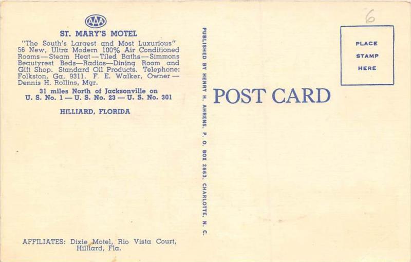 Florida   Hilliard   St. Mary´s Motel