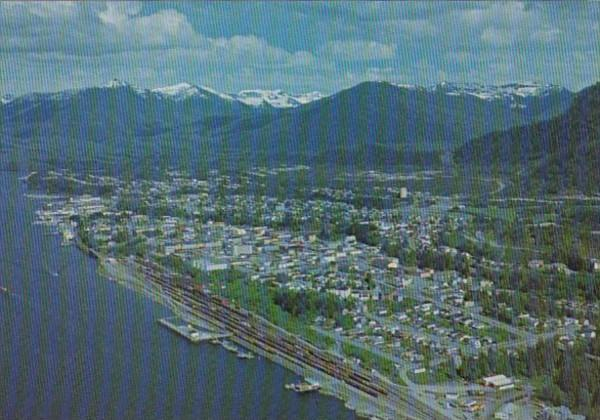Canada British Columbia Prince Rupert Aerial View